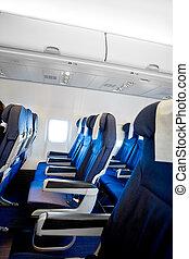 interieur, vliegtuig
