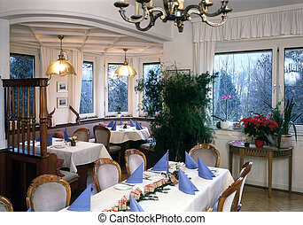 interieur with feastful dinner tables - photography showing...