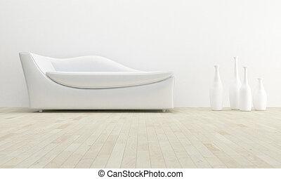 interieur, witte