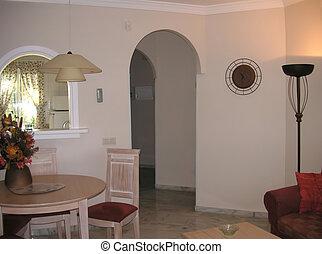 interior, área cenando