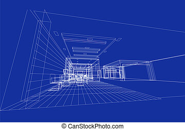 interior 3d illustration