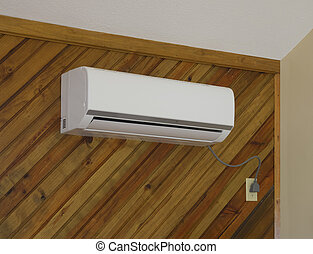 Interior air conditioning unit as part of the outside unit