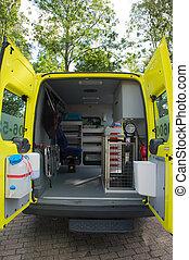 Interior ambulance for animals
