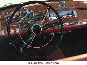 interior ancient car
