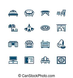 Interior and furniture icons | MICRO series