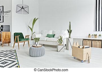 interior, apartamento, espaço aberto
