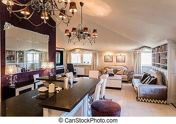 Interior arranged in baroque style - Luxury beauty interior...