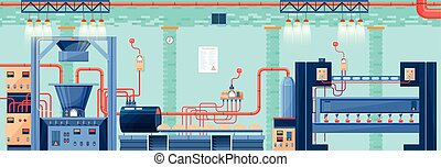 Interior BAKERY 3 - Stock vector illustration interior of...