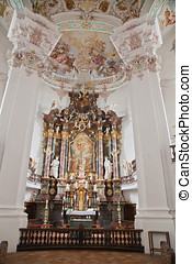 Interior baroque church