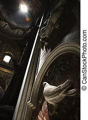 interior, basílica, peter\'s, s., rome.