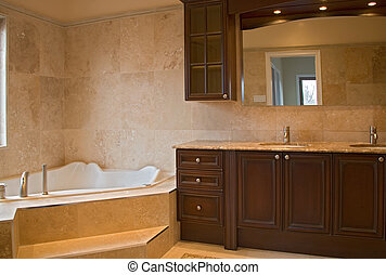 interior bathroom.