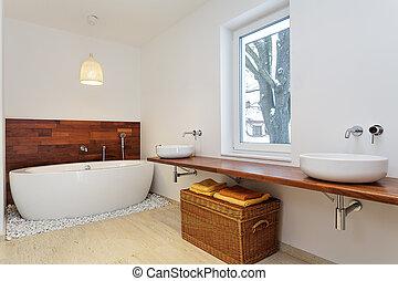 Interior bathroom with window