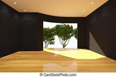 Interior Black Room