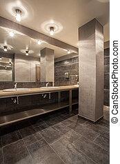 interior, bosque, cuarto de baño, hotel, -
