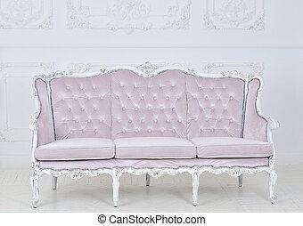 interior, canto, modernos, sofá