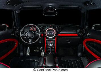 interior, car, desporto