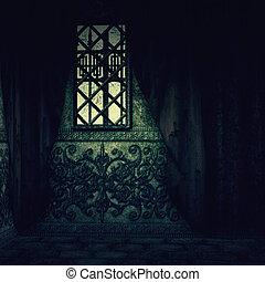 interior, casa, assombrado
