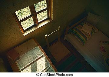 interior, casa, madeira