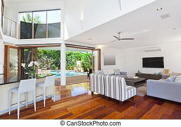 interior, casa, moderno
