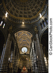 Interior Cathedral of Siena.