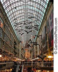 interior, centro comercial