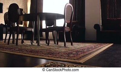 Interior chair room with chairs and carpets beautiful luxury