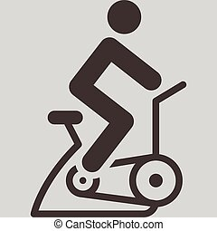 interior, ciclismo, icono