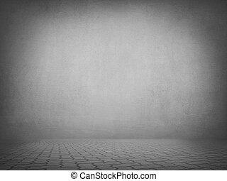 interior, cinzento, sala