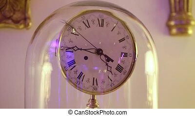 Interior clocks closeup - Interior clocks close up steadicam