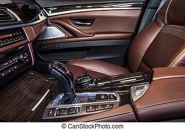 interior, coche, lujo, detalles