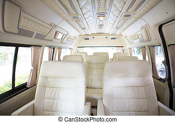 interior, coche, moderno, nuevo