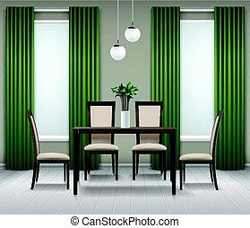 interior, comedor