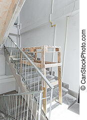 Interior construction of housing project. Room is under renovation or under construction.