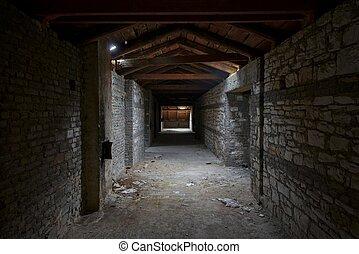 interior construindo, abandonado
