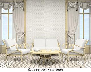 interior, cor, modernos, branca, parte