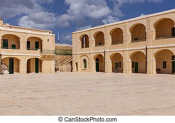 Interior Courtyard at Fort St. Elmo