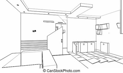 Interior creation - Apartment-transformer, wireframe