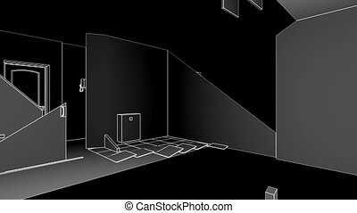 Interior creation - Apartment-transformer, wireframe