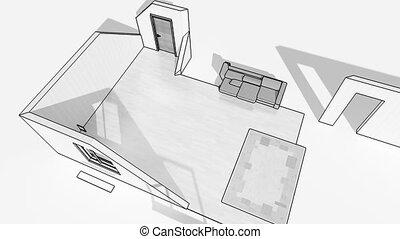 Interior creation, wireframe