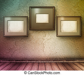 interior, de, a, antigas, sala, com, a, anterior, restos, de, luxo