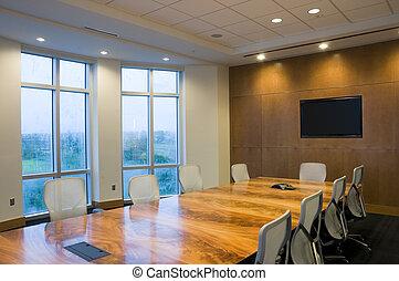 interior, de, edificio de oficinas