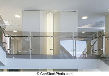 interior, de, el, negocio moderno, edificio