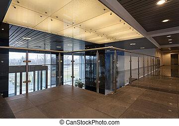 interior, de, escritório