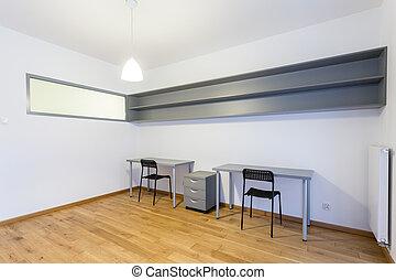 interior, de, espaço escritório, em, casa