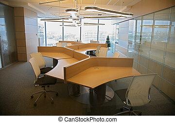 interior, de, la oficina