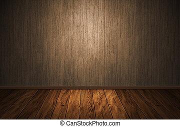 interior, de madera