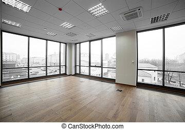 interior, de, moderno, edificio de oficinas