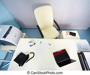 interior, de, oficina, -, director, lugar de trabajo