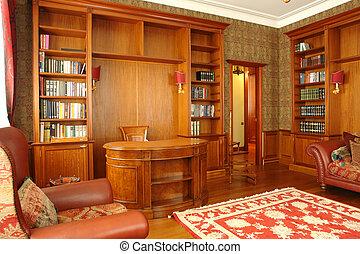 interior, de, oficina, habitación, en casa