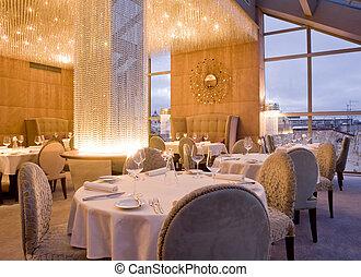 interior, de, restaurante
